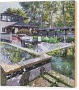 Boynton House Oil Painting Wood Print