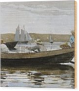Boys In A Dory, By Winslow Homer, Wood Print