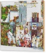 Boys In Medieval Dress Wood Print
