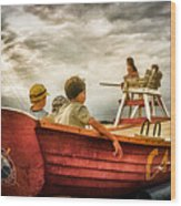 Boys Of Summer Cape May New Jersey Wood Print
