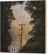 Boys On The Hill Wood Print