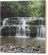 Bozeman Falls Wood Print