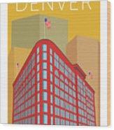Denver Brown Palace/gold Wood Print