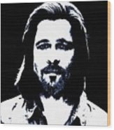 Brad Pitt Wood Print
