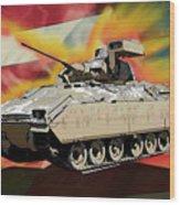 Bradley M2 Fighting Vehicle Wood Print