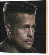 Brad Pitt As Lt Aldo Paine Publicity Photo The Inglourious Bastards 2009 Color Added 2016 Wood Print
