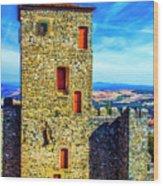 Braganca Castle Tower Wood Print