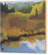 Bragg Creek Wood Print