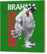 Brahma Boss T-shirt print Wood Print
