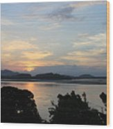 Brahmaputra Sunset Wood Print
