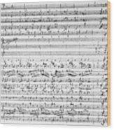 Brahms Manuscript Wood Print
