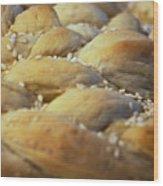 Braided Bread Wood Print