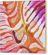 Brain Coral Abstract 6 In Orange Wood Print
