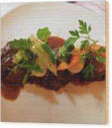 Braised Beef With Vegetables Wood Print