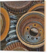 Brake Drums - Disc Brakes - Shock Assembly Wood Print