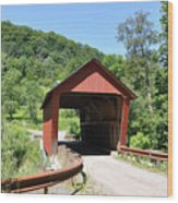 Braley Covered Bridge Wood Print