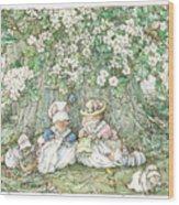 Brambly Hedge - Hawthorn Blossom And Babies Wood Print