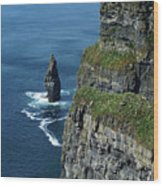 Brananmore Cliffs Of Moher Ireland Wood Print