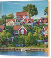 Brandaholm Cottages Wood Print