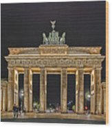 Brandenburg Gate Wood Print by Joachim G Pinkawa