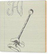 Branding Iron Wood Print