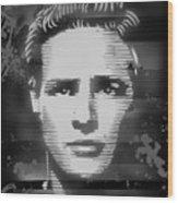 Brando Odyssey Black And White Wood Print