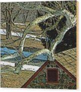 Brandywine Springhouse Wood Print