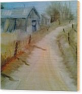 Brant County Side Road Wood Print