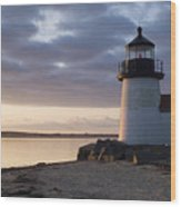 Brant Point Light Number 1 Nantucket Wood Print
