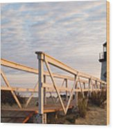 Brant Point Lighthouse And Walkway - Nantucket Wood Print