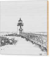 Brant Point Lighthouse Wood Print