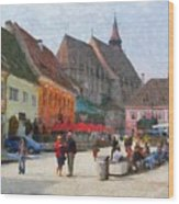 Brasov Council Square Wood Print