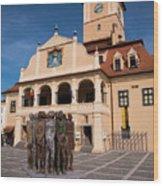 Brasov Town Hall Wood Print