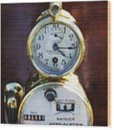 Brass Auto-meter Speedometer Wood Print