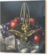 Brass Basket Wood Print