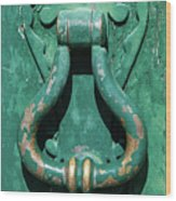 Brass Door Handle Wood Print
