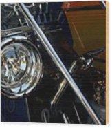 Brass Era Headlamp Wood Print