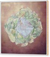 Brass Flower Wood Print