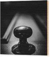 Brass Knob Wood Print