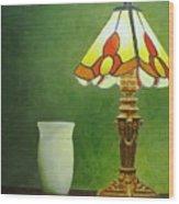 Brass Lampshade Wood Print