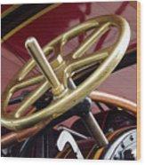 Brass Steering Wheel Wood Print