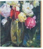 Brass Vase Wood Print