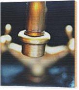 Brass Water Wood Print