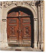 Bratislava Doors Wood Print