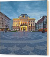 bratislava 'XXVI Wood Print