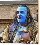 Braveheart Busker In Edinburgh Wood Print