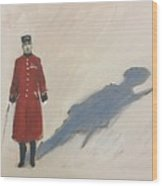 Bravery Has A Shadow - The Chelsea Pensioner  Wood Print
