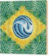 Brazil Wave 01 Wood Print