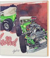 Brazilian Hot Rod V8 Wood Print