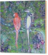 Brazilian Parrots Wood Print